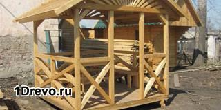 Возведение деревянной беседки