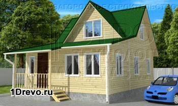 Дом с мансардой 6 на 9