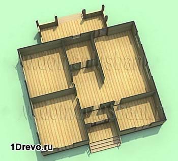 Проект дома 10x12