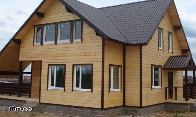 Блок-хаус на фасаде