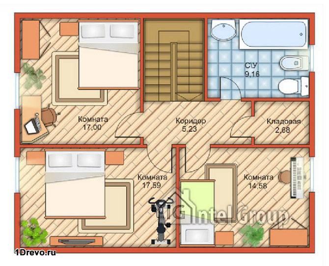 План дома 6x8