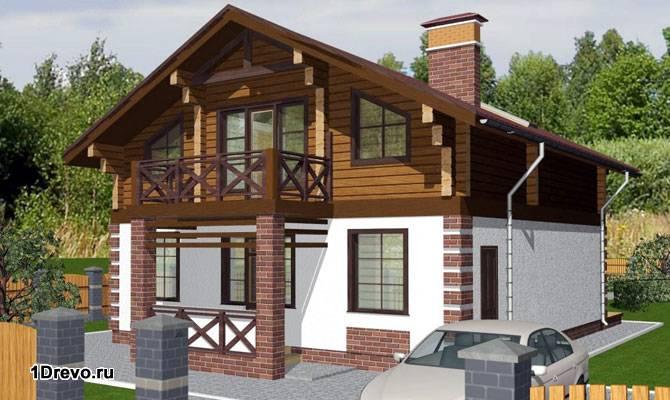 Современный комбинированный дом