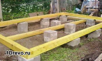 Фундамент для домика