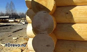 Обработка торцов сруба
