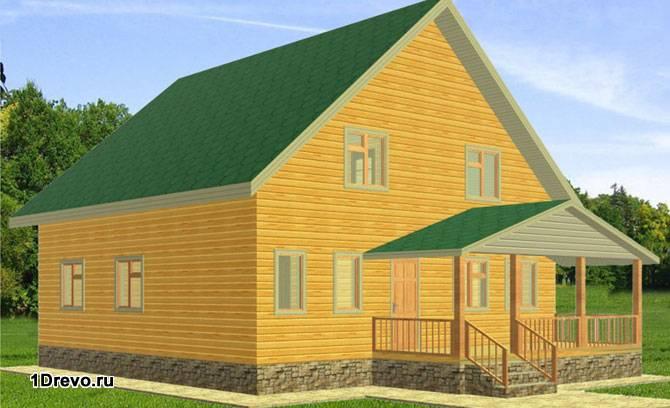 Двухэтажный дом 12x12