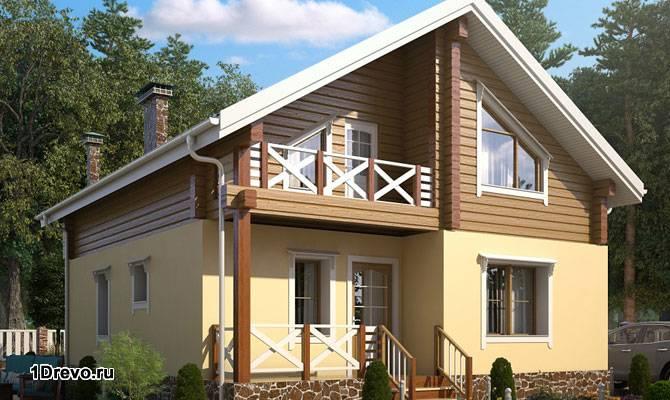 Небольшой комбинированный дом