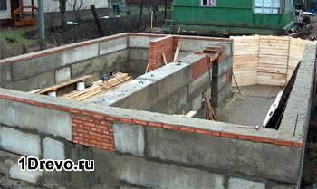Строительство цоколя из блоков