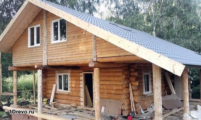 Комбинированный дом ручной рубки