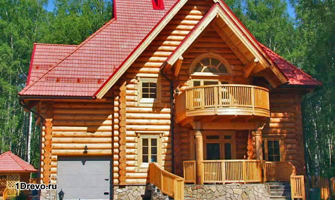 Дом из дуба