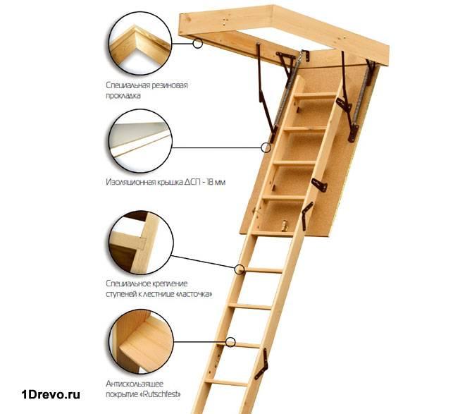 Конструкция люка с лестницей