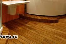 Деревянные полы в ванной комнате своими руками
