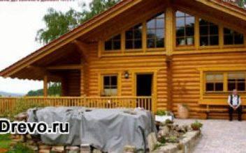 Деревянный загородный дом в стиле шале