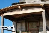 Как построить деревянный навес над крыльцом