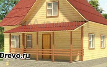 Строительство дома из бруса 8 на 10 - одноэтажного или двухэтажного