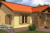 Одноэтажный дом из бруса размером 10 на 12