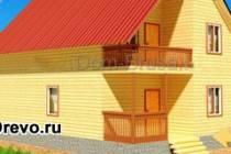 Индивидуальный дом из бруса размером 7 на 8