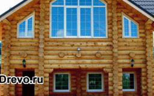 Материал для сруба деревянного дома - цельное бревно