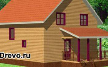 Одноэтажные и двухэтажные дома из бруса размером 12 на 12