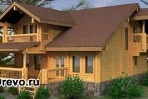 Деревянные дома из цельного профилированного бруса
