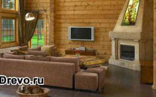 Характерный интерьер деревянного бревенчатого дома