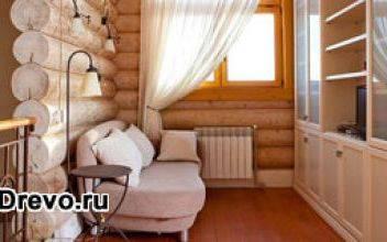 Интерьер деревянного дома из бревна своими руками