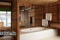 Стили интерьера ванной комнаты деревянного дома