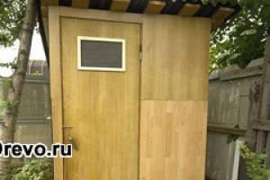 Варианты изготовления дачных деревянных туалетов
