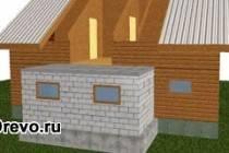 Как сделать кирпичную пристройку к деревянному дому