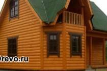 Обшивка бревенчатого дома блок-хаусом