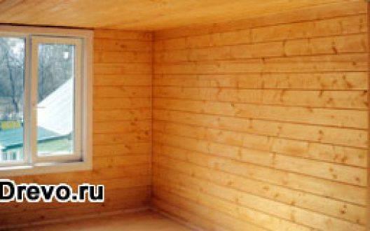 Обшивка стен бревенчатого дома вагонкой