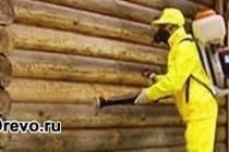 Огнезащитная и антисептическая обработка деревянного дома