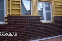 Отделка деревянного дома клинкерными термопанелями