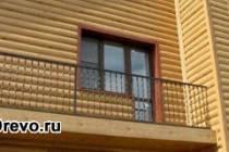 Отделка деревянного дома снаружи под бревно