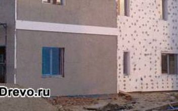 Отделка фасадов деревянных домов пенопластом с обшивкой