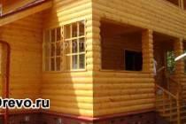 Декоративная отделка вагонкой фасада деревянного дома