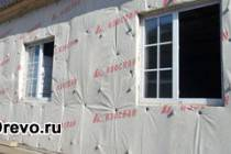 Пароизоляция стен деревянного дома снаружи и изнутри
