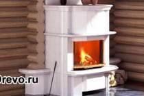 Печь-камин в деревянном доме: правила установки