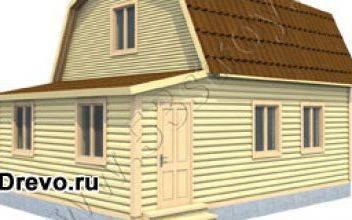 Индивидуальная планировка дома из бруса 6 на 8