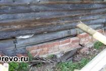 Ремонт и реконструкция фундамента бревенчатого дома