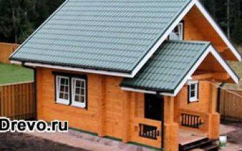 Бюджетный садовый домик из бруса 100х100
