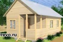 Вариант строительства недорого щитового садового домика