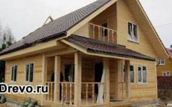 Строительство дома 8х8 из профилированного бруса