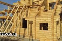 Поэтапное строительство дома из оцилиндрованного бревна