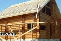 Один из вариантов строительства дома из сруба 9 на 9