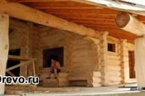 Строительство домов из лиственницы - плюсы и минусы срубов большого диаметра