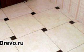 Укладка плитки на деревянный пол в ванной комнате