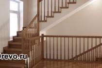 Изготовление и установка деревянной межэтажной лестницы