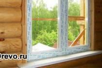 Технология установки стеклопакетов в деревянном доме