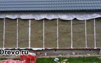 Утепление бревенчатого дома снаружи своими руками