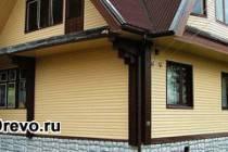 Виды отделки фасадов деревянных домов различными материалами
